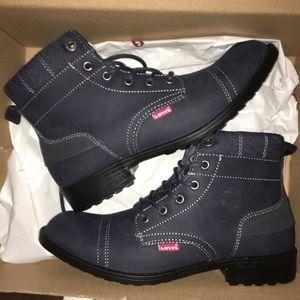NEW Levi's Denim Boots Men's Casual 8.5